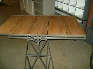 Urban Industrial Steam Punk Shelf Table Combo Display Unit