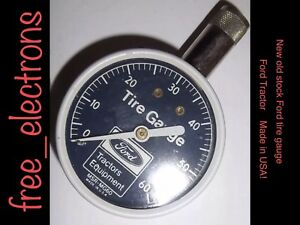 Ford Script Tractor Tire Air Pressure Gauge Nib Usa 8n Naa Cyclone Hood Fender 1