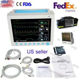 Icu Ccu Multi parameter Patient Monitor Spo2 Pr Ecg Nibp Resp Temp printer bag