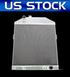 1946 1947 1948 Ford Coupe W Chevy V8 3 Row Aluminum Radiator Cc46ch