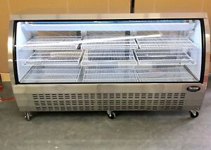 Deli Case New 72 82 Stainless Glass Refrigerator Display Bakery Pastry Meat