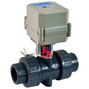 Dc12v 1 2 Pvc Normally Closed Motorized Electric Ball Valve Npt Cr2 02
