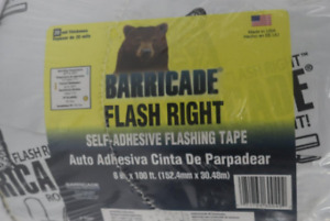 Barricade Flash Right Self adhesive Flashing Tape 6 In X 100 Ft 20 Mil