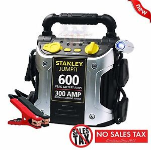 Battery Charger 600 Peak Amp Auto Jump Starter Booster Portable Power Pack Car