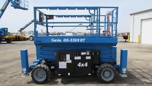 Genie Gs 3369rt Scissor Lift Demo