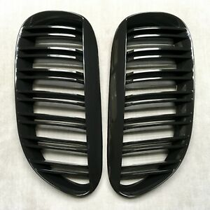 M Style Painted Piano Gloss Black Front Grilles Grille For 04 11 E63 E64 M6 650i