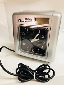 Acroprint Atr120 Automated Top Loading Electric Time Clock 010212000