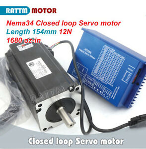 Nema34 12n m Closed Loop Servo Motor 154mm 6a 70v Hss86 2 phase Driver Cnc Kit
