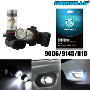2x 9005 Hb3 9145 H10 8000k 100w Led Cree Projector Fog Driving Light Bulb White