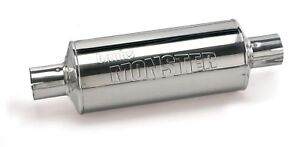 Banks Power Monster Muffler 4 X 4 Stainless Steel Large Inlet Outlet 53800