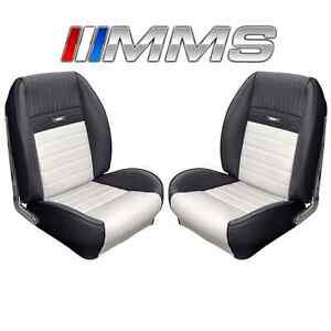 1964 1965 1966 65 66 Mustang Coupe Black White Sport Ii Upholstery Interior Tmi