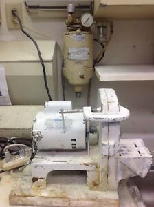 Dental Lab Model Trimmer And Mixer And Plaster Pin One Lot