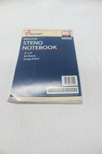 Lot Of 12 Skillcraft Steno Notebook 80 Sheets Gregg Ruled 6 X 9