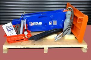 Felix Hydraulic Hammer Breaker Fit To 8000 To 16000lbs Skid Steer Mini Excavator