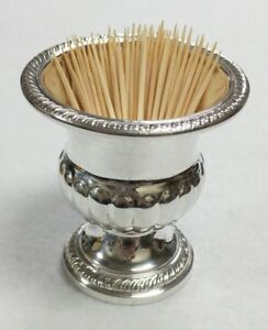 Vintage Hamilton Sterling Silver Weighted Toothpick Holder Cigarette Urn No Mono