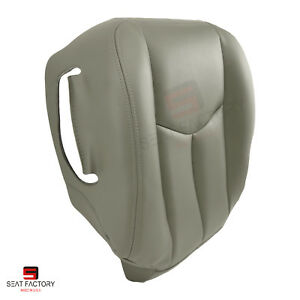 2003 2004 Chevy Avalanche 2500 Front Left Side Bottom Vinyl Seat Cover Gray 922