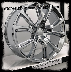 20 Inch Chrome 2015 Jeep Grand Cherokee Srt Oe Replica Wheels Dodge Durango 5x5