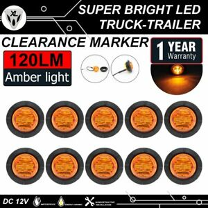 10x Amber 6led 1 1 4 Round Lights Side Marker Trailer Boat Tow Bus Clearance Us