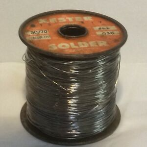 Kester Solder 3c 70 Resin five 030 Dia 66 Core Roll 3lbs 15 Ounces