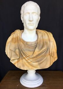 Gorgeous Two Color Roman Marble Bust