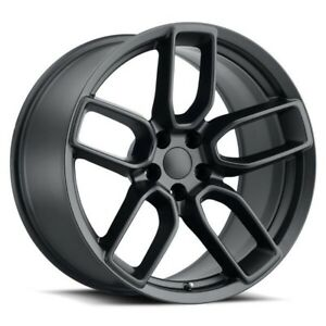 4 20 Stagger Hellcat Widebody Style Wheels Satin Black Challenger Charger 300