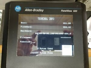 Allen Bradley 2711 t6c16l1 b Panelview 600 Color Touch Display Frn 4 43