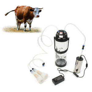 3l Electric Barrel Milking Machine Cow Milker Portable Vacuum Pump Bucket Safety