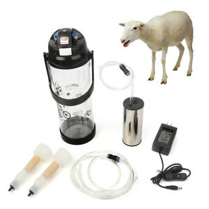 3l 0 8gal Electric Barrel Machine Goat Milker Portable Vacuum Pump Bucket 2 Teat