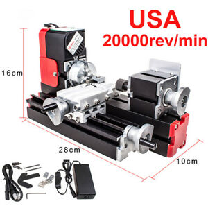 20000rev min Dc12v Woodwork Hobby Craft Lathe Machine Metal Motorized Diy Tool
