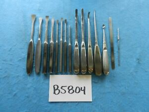 Aesculap V Mueller Zimmer Surgical Orthopedic Instruments Lot Of 15
