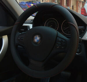 Us 15 38cm Car Suv Pu Leather Steering Wheel Cover 1pc Black For Bmw Benz Audi