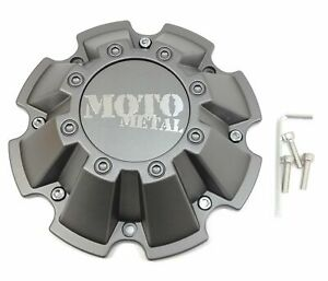 Moto Metal Matte Gray Wheel Center Hub Cap 5 6 8lug Mo962 Mo200