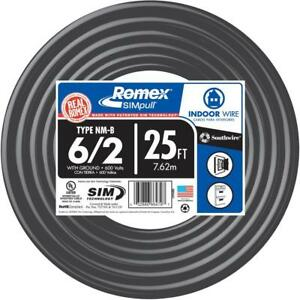 Southwire 25 Ft 6 3 Romex Type Nm b Non metallic Wire 63950021