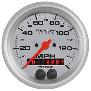 Auto Meter Ultra Lite Pro Comp Electric Speedometer Gps 140 Mph In dash 3 3 8