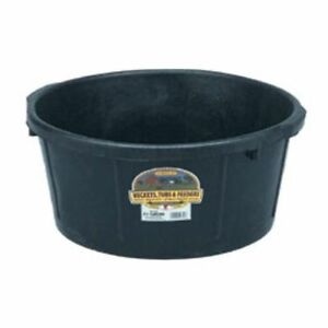 6 5 Gallon Rubber Tub Pet Livestock Feeding Shop Supplies Multi Purpose Black