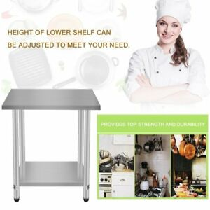 24 x30 Kitchen Work Prep Table With Backsplash Business Stainless Steel House