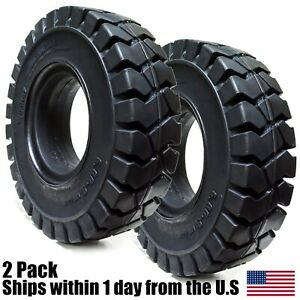 2pk 6 00 9 Tires Solid Solver Forklift Tire 6 00 9 Flat Proof 6009