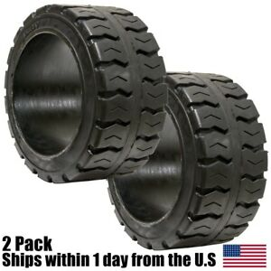 2pk 18x7x12 125 Solid Puncture Proof Press on Traction Forklift Tire 18712