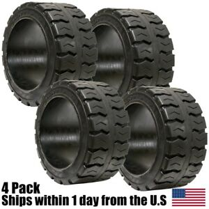 4pk 18x7x12 1 8 Solid Puncture Proof Press on Traction Forklift Tire 18712