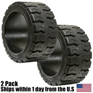 2pk 21x8x15 21x8 15 Solid Puncture Proof Press on Traction Forklift Tire 21815