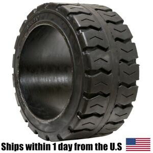 21x8x15 21x8 15 Solid Puncture Proof Press on Traction Forklift Tire 21815