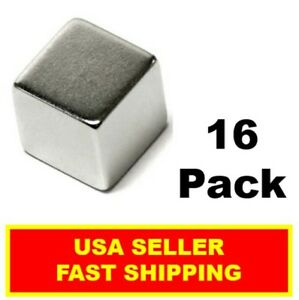 Neodymium Cube Magnet 1 2 Inch N52 super Strong Rare Earth 16 Pack