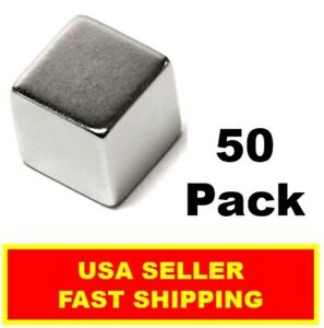 Neodymium Cube Magnet 1 2 Inch N52 super Strong Rare Earth 50 Pack