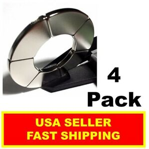 Neodymium Magnet 2 Inch Healing Ring Large N52 Strong Star Of David 4 Pack