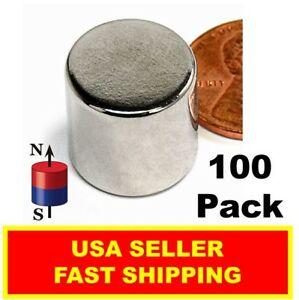 Neodymium Disc Magnet N52 1 4 Inch Or 7mm Strong Rare Earth 100 Pack