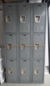 Hallowell 9 User Box Locker Unit Used In Great Condition