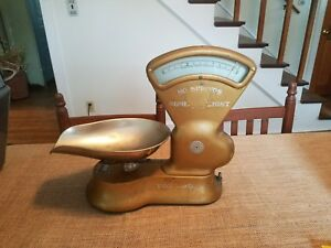 Antique Toledo Candy Scale 3 Lbs Country Store No Springs Beautiful