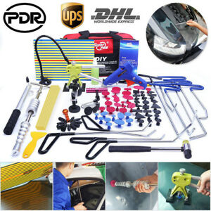 Us Pdr Paintless Dent Repair Dings Removal Car Body Hail Damage Repair Tools Set