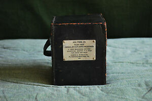 Biddle Ohmmeter Zm 55 psm 25 With Original Cables Leather Case Rare Vintage