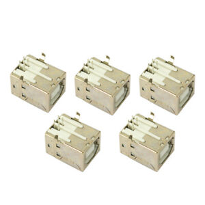 5 Pcs Usb Port 2 0 Connector Type b Female Replacement For Solder Printer